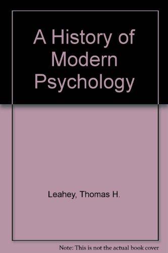 9780130822406: A History of Modern Psychology