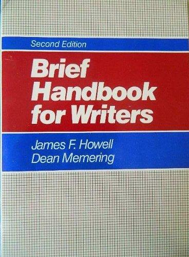 9780130823632: Brief Handbook for Writers