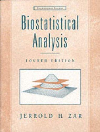 9780130823908: Biostatistical Analysis
