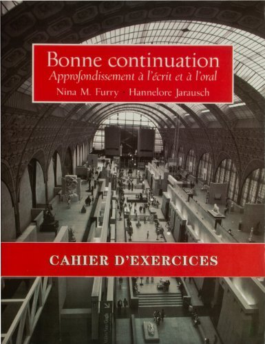 9780130830524: Bonne Continuation: Workbook/Lab Manual
