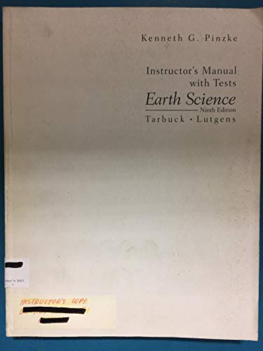 9780130832313: Earth Science, Instructor's Manual with Tests