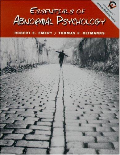 9780130833303: Essentials of Abnormal Psychology