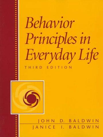 9780130840967: Behavior Principles in Everyday Life