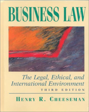 9780130843098: Business Law Legal Ethic& Total Law CDROM Pk