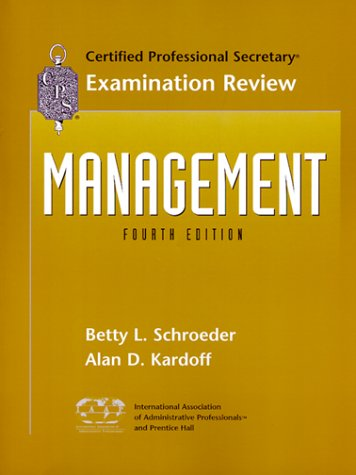 9780130843234: CPS Examination Review for Management (4th Edition)