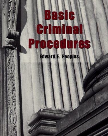 9780130847744: Basic Criminal Procedures