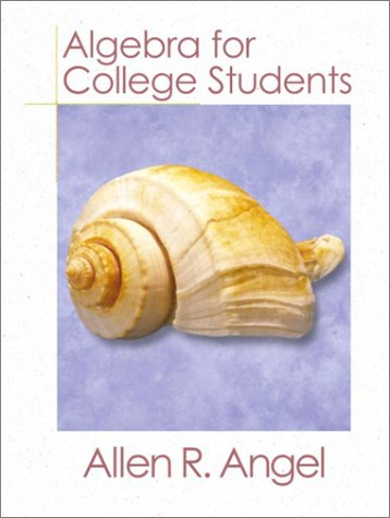 9780130848710: Algebra for College Students