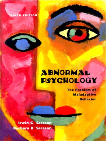 9780130849533: Abnormal Psychology: The Problem of Maladaptive Behavior