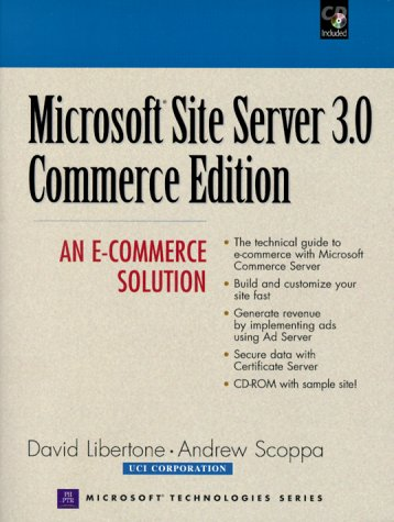 9780130850829: Micrososft Site Server 3.0 Commerce Edition: An E-Commerce Solution