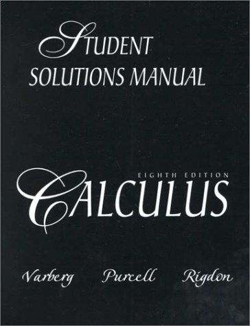 9780130851512: Calculus (8th Edition): Student Solutions Manual