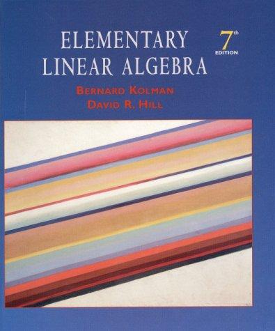 9780130851994: Elementary Linear Algebra (7th Edition)