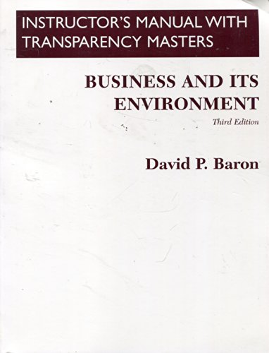 9780130852571: Instructor's Manual with Transparency Masters: Business and Its Environment