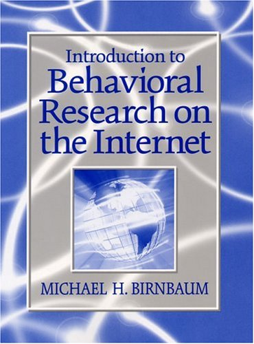 9780130853622: Introduction to Behavioral Research on the Internet (Book & CD)