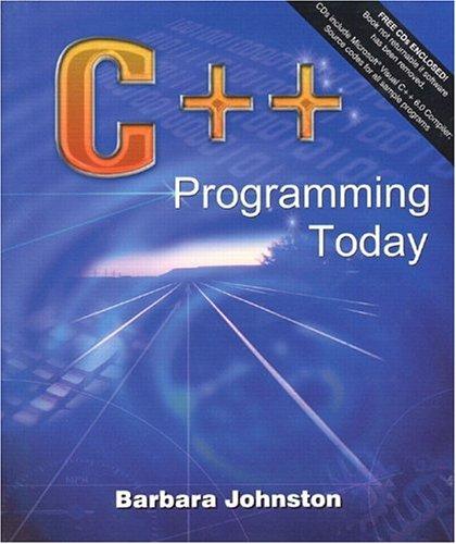 9780130853752: C++ Programming Today