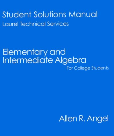 9780130855145: Elementary and Intermediate Algebra for College Students