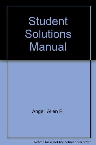 9780130855190: Algebra for College Students, Solutions Manual