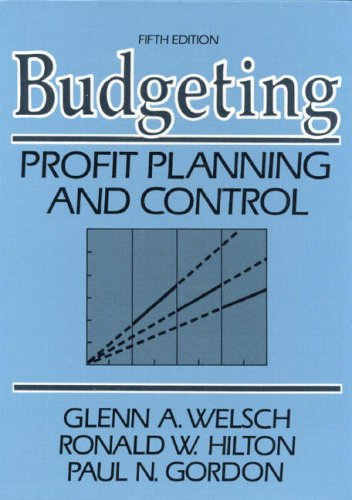 9780130856890: Budgeting: Profit, Planning and Control