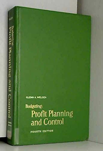 9780130857125: Budgeting: Profit, Planning and Control