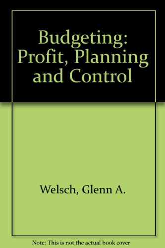 9780130857200: Budgeting: Profit, Planning and Control