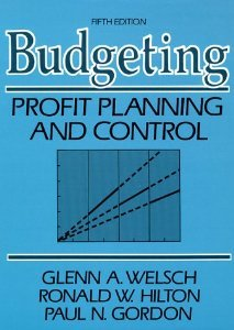 9780130857392: Budgeting: Profit, Planning and Control