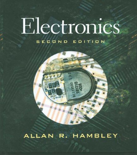 Electronics,2ed 9780130857651 For core Electronic Circuits courses. The text provides a wealth of readily accessible information on basic electronics for electrical and computer engineering students. Its friendly approach, clear writing style, and realistic design examples, which earned Hambley the 1998 ASEE Meriam/Wiley Distinguished Author Award, continue in the Second Edition.