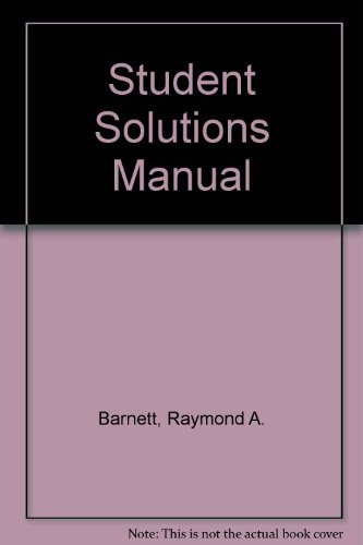9780130858849: Applied Calculus for Business, Economics, Life Sciences and Social         Sciences: Student Solutions Manual