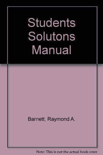9780130858894: Students Solutons Manual