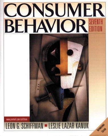9780130859143: Consumer Behavior (Prentice Hall international editions)