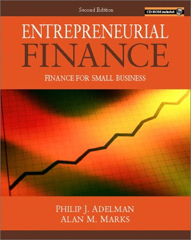 9780130859686: Entrepreneurial Finance: Finance for Small Business (2nd Edition)