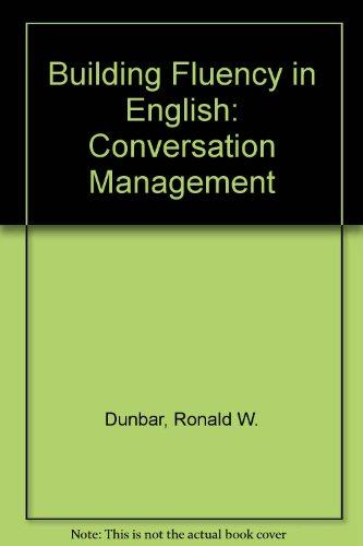9780130861177: Building Fluency in English: Conversation Management