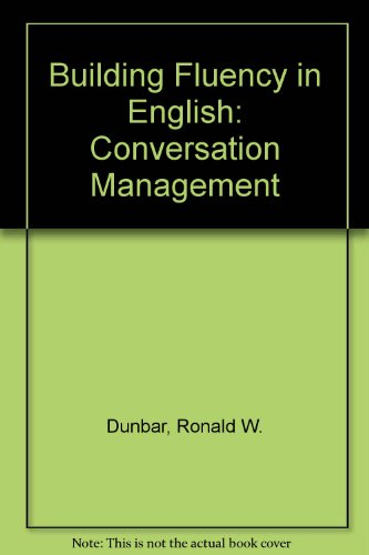 9780130861177: Building Fluency in English: Conversation Management