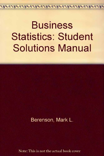 9780130867797: Business Statistics: Student Solutions Manual
