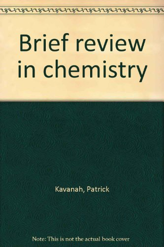 9780130872715: Brief review in chemistry