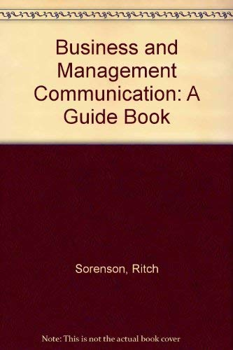 9780130873552: Business and Management Communication: A Guide Book