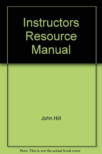 9780130874801: Instructors Resource Manual