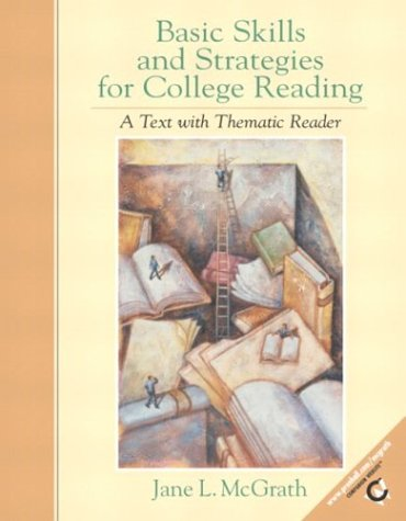 9780130874832: Basic Skills and Strategies for College Reading: A Text with Thematic Reader