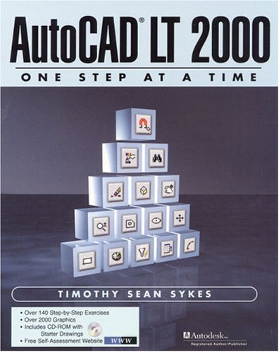 9780130874856: AutoCAD LT One Step at a Time (With CD-ROM)