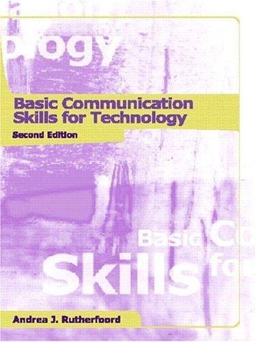 9780130878229: Basic Communication Skills for Technology (2nd Edition)