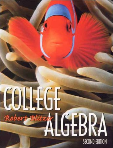 9780130878281: College Algebra (2nd Edition)