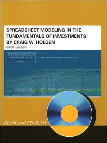 9780130879455: Spreadsheet Modeling in the Fundamentals of Investments Book and CD-ROM