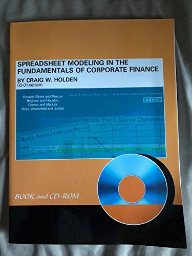 9780130879493: Spreadsheet Modeling in the Fundamentals of Corporate Finance (With CD-ROM)