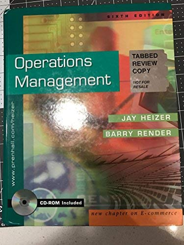 9780130880857: Operatns Management Interactive CD Package