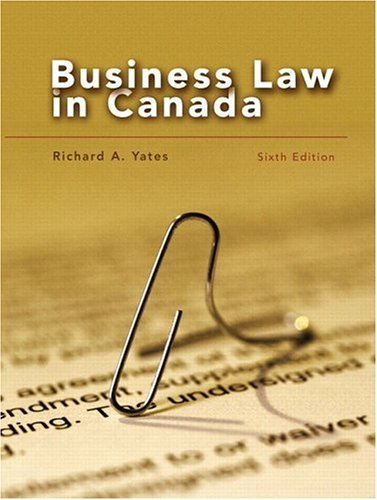 9780130881908: Business Law in Canada