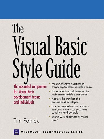 9780130883612: The Visual Basic Style Guide