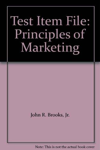 9780130883766: Test Item File: Principles of Marketing
