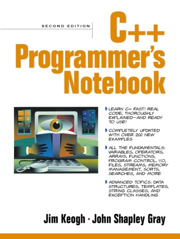 9780130887016: C++ Programmer's Notebook (2nd Edition)