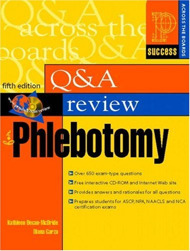 9780130887153: Question and Answer Review for Phlebotomy (5th Edition)