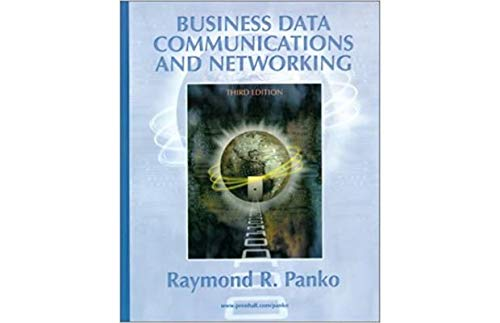 9780130892812: Business Data Communications and Networking