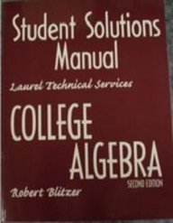 9780130894106: College Algebra