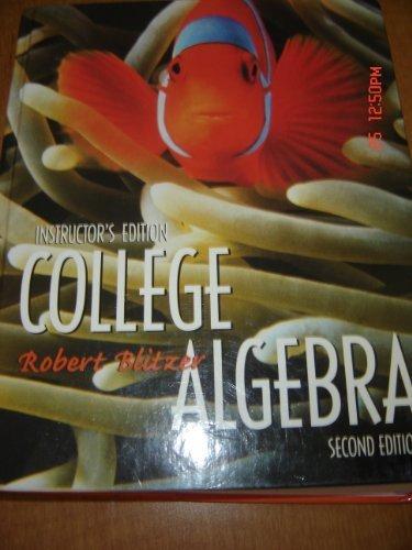 9780130894175: College Algebra: Instructors Edition
